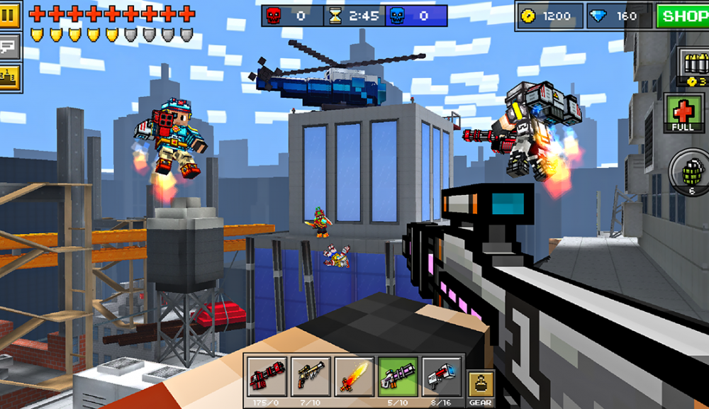 playing the pixel gun 3D